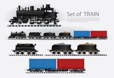 Free Cargo Train On A Rail Road Royalty Free Stock Image - 203174776