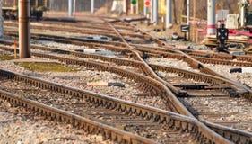 Cargo train platform Royalty Free Stock Image
