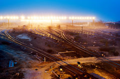 Railway transport hub Stock Photo