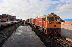 Cargo train Royalty Free Stock Image