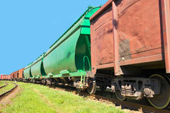 Cargo train Stock Photo