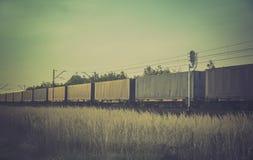 Cargo train - vintage colors Stock Photos