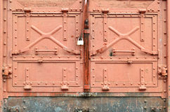 Old door of train wagon Royalty Free Stock Photos