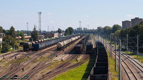 Cargo trains Royalty Free Stock Images