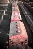 Cargo trains. logistics, transportation and distribution background. Cargo trains logistics. Transportation and distribution background royalty free stock photography