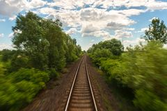 Cargo trains in old train depot Royalty Free Stock Image