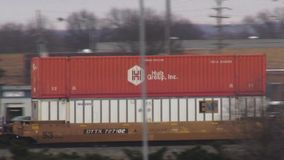 Cargo Trains, Railroads, Shipping, Transport stock footage