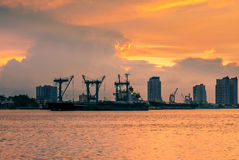 Cargo transport activity on shipping management Stock Photography