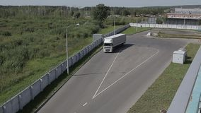 Cargo transport on the loading area stock video footage
