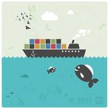 Cargo transport - ocean freight Stock Photo