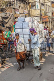 Cargo transport in Old Delhi Royalty Free Stock Photography