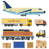 Cargo Transport and Packaging Royalty Free Stock Images
