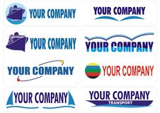 Cargo transport travel companies logo Royalty Free Stock Photos