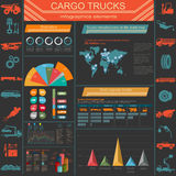 Cargo transportation infographics, trucks, lorry. Elements infog Stock Image
