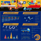 Cargo transportation infographics, trucks, lorry. Elements infog Royalty Free Stock Images