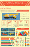 Cargo transportation infographics, trucks, lorry. Elements infog Stock Photography