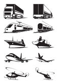 Cargo transportation in perspective. Vector illustration Stock Image