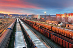 Cargo Transportation - Train Royalty Free Stock Images