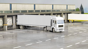 Cargo Transportation - Truck in the warehouse Stock Photography