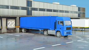 Cargo Transportation - Truck in the warehouse Royalty Free Stock Image