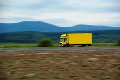 Cargo truck. View of ridden truck landscape Stock Photography