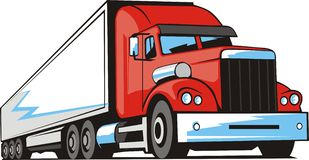 Cargo truck royalty free illustration