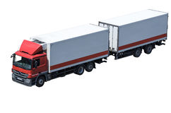 Cargo truck stock images