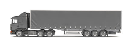 Cargo truck - black Royalty Free Stock Photos