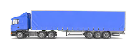 Cargo truck - blue - shot 39 Stock Photography