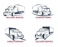 Cargo truck and delivery service logo vector Royalty Free Stock Photos