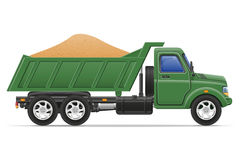 Cargo truck delivery and transportation of construction material Stock Image