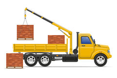 Cargo truck delivery and transportation of construction material Royalty Free Stock Photography
