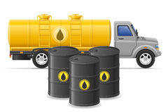 Cargo truck delivery and transportation of fuel for transport co Stock Photography