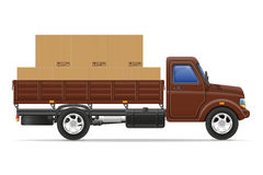 Cargo truck delivery and transportation goods concept vector ill Royalty Free Stock Images