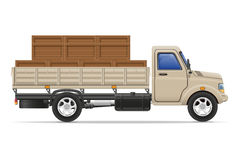 Cargo truck delivery and transportation goods concept vector ill Stock Photography
