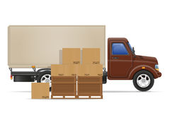 Cargo truck delivery and transportation goods concept vector ill Stock Images