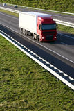 Cargo Truck on the Highway Stock Images