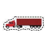 Cargo truck icon. Over white background. colorful design. vector illustration Stock Photo