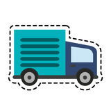 Cargo truck icon Royalty Free Stock Photography