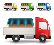 Cargo truck illustration Royalty Free Stock Image