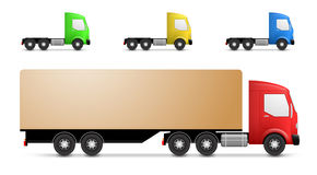 Cargo truck illustration Royalty Free Stock Photography