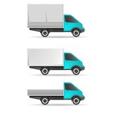 Cargo truck pickup and tent Royalty Free Stock Photography