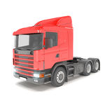 Cargo truck - red Royalty Free Stock Image