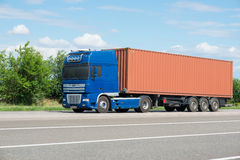 Cargo truck on road Stock Photos