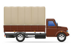 Cargo truck for transportation of goods vector illustration Royalty Free Stock Photos