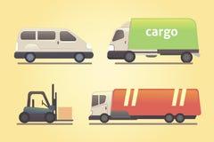 Cargo truck transportation vector set. Set cargo truck transportation eps10 Royalty Free Stock Photography