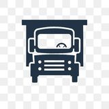 Cargo truck vector icon isolated on transparent background, Carg royalty free illustration