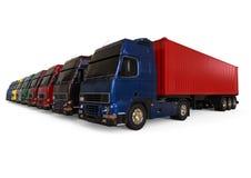 Cargo Trucks fleet concept Royalty Free Stock Photo