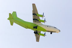 Cargo Turboprop Antonov landing Stock Photography