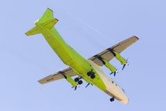 Cargo Turboprop Antonov landing Royalty Free Stock Photos